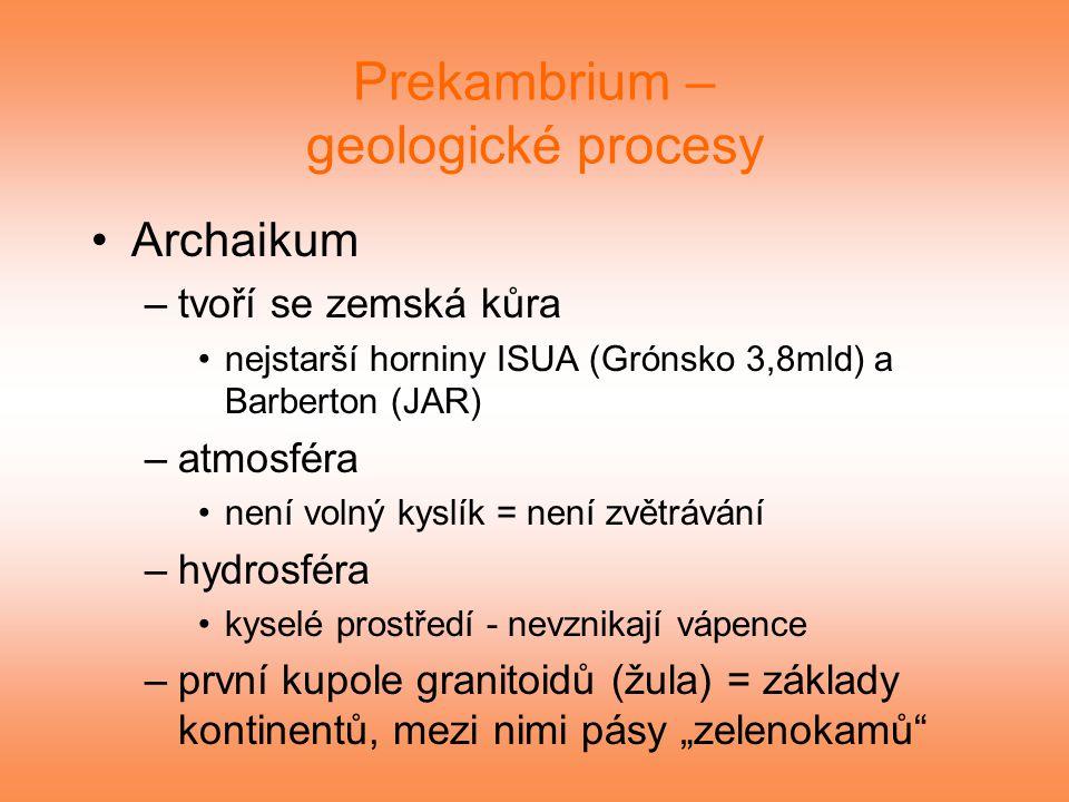 Prekambrium – geologické procesy