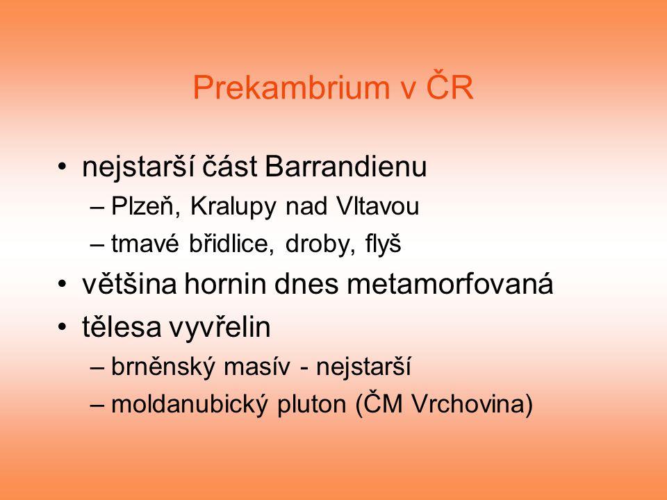 Prekambrium v ČR nejstarší část Barrandienu