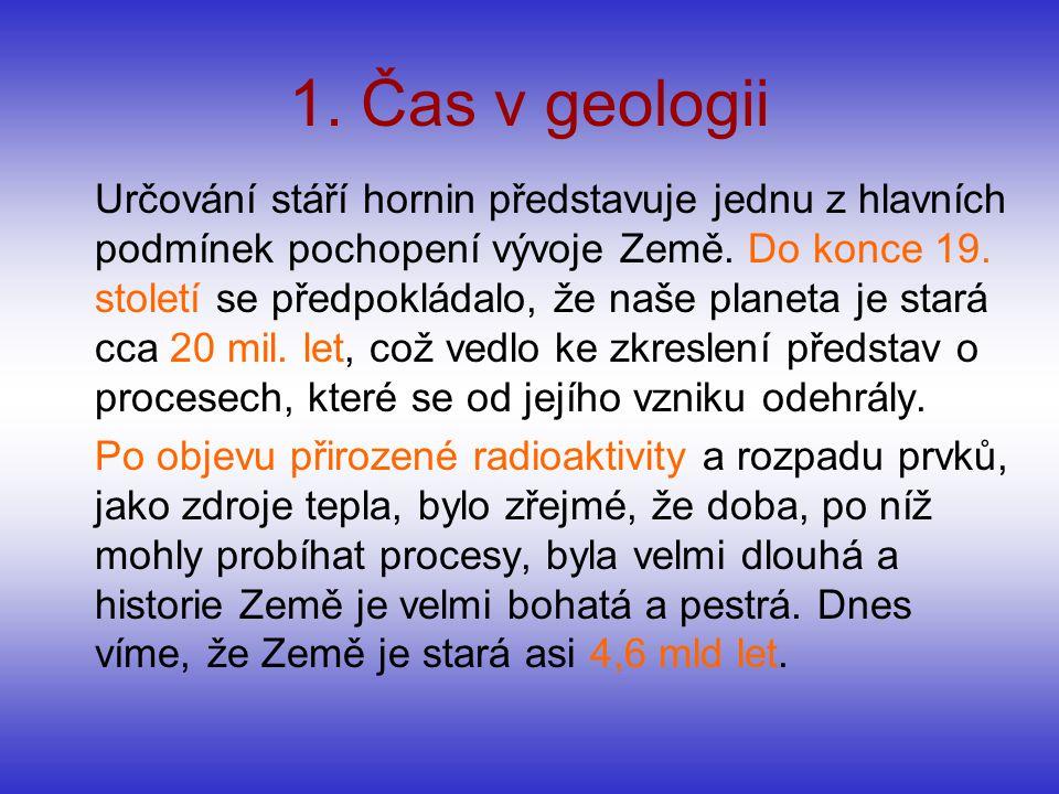 1. Čas v geologii