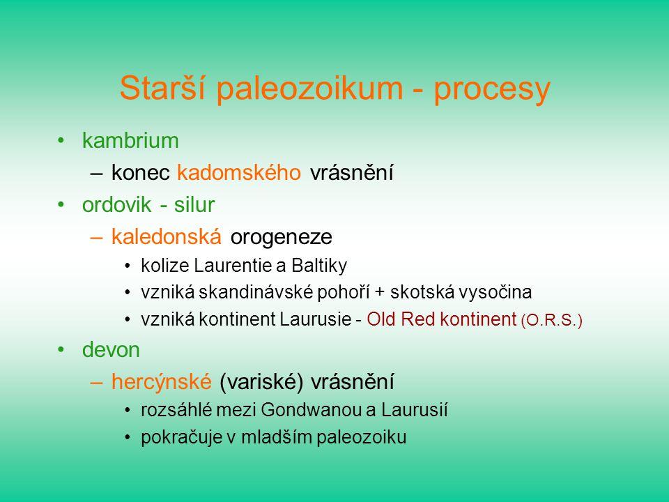 Starší paleozoikum - procesy