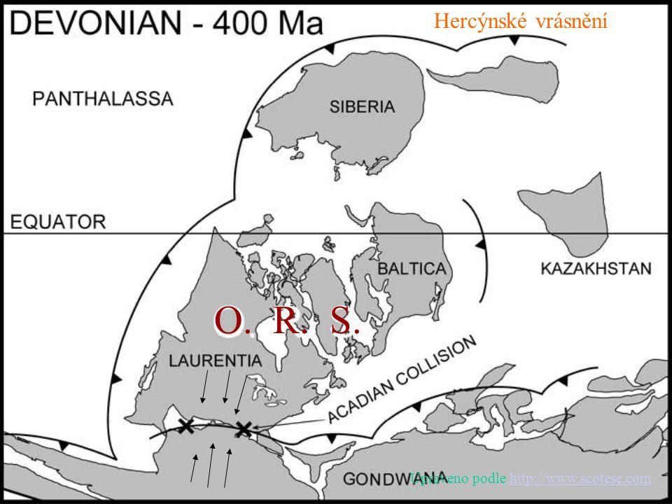 Hercýnské vrásnění O. R. S. Upraveno podle http://www.scotese.com