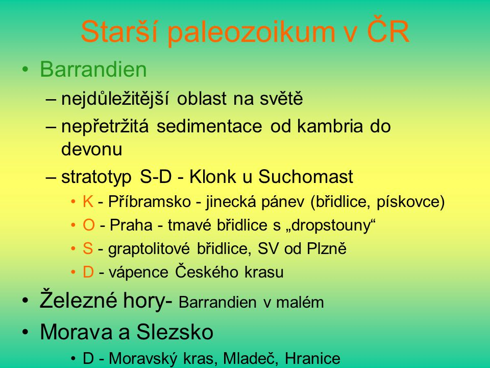 Starší paleozoikum v ČR