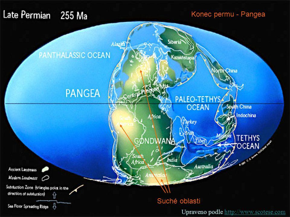 Konec permu - Pangea Suché oblasti