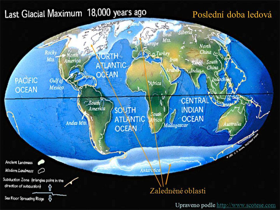 Poslední doba ledová Zaledněné oblasti