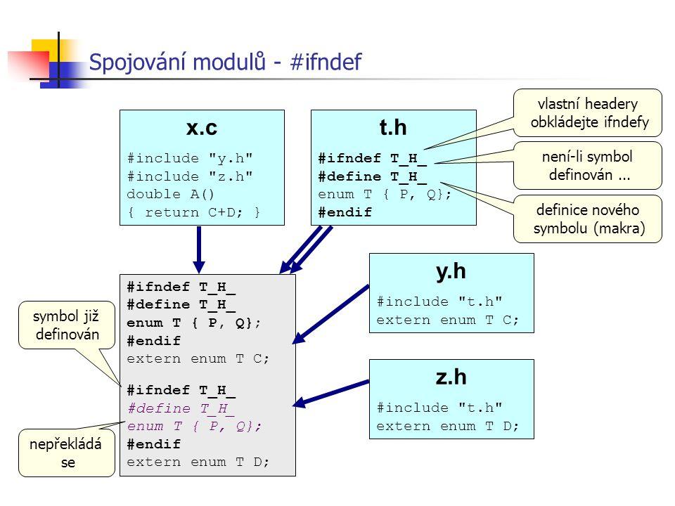 Spojování modulů - #ifndef