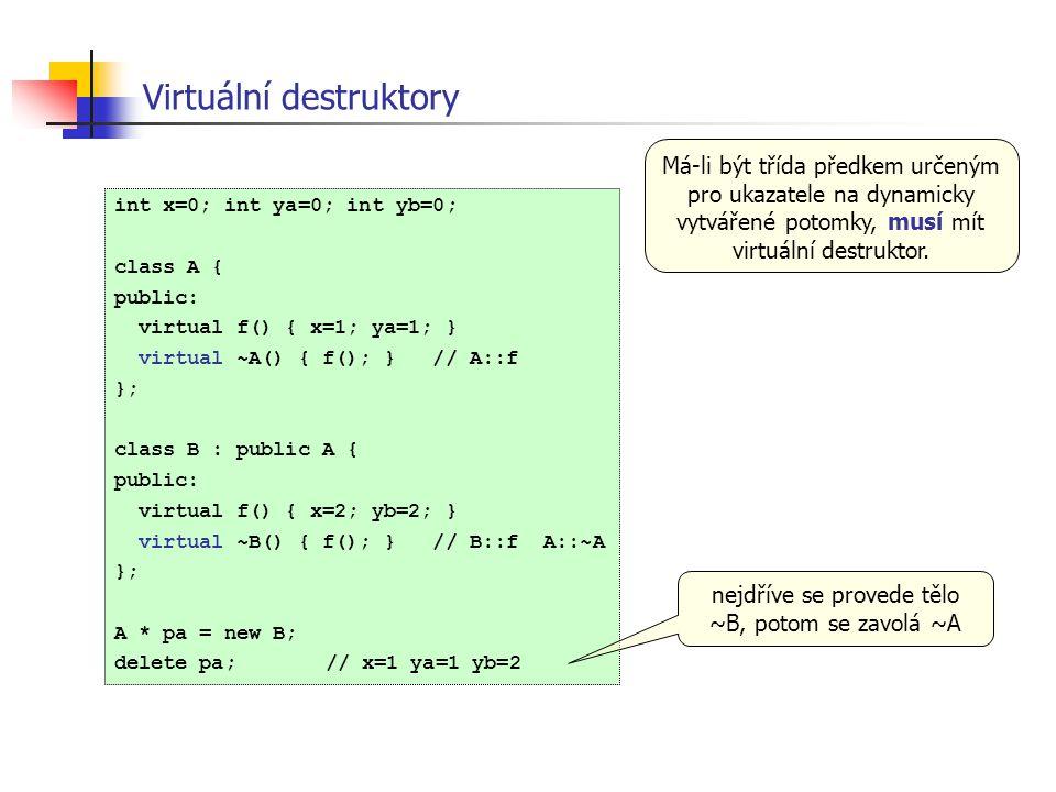 Virtuální destruktory