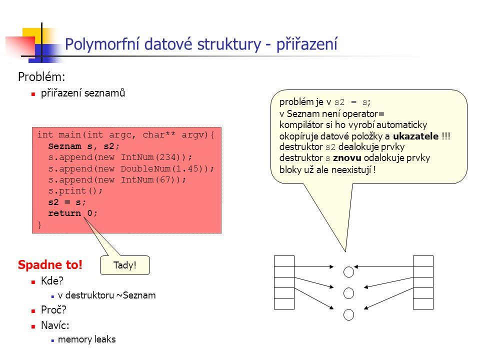 Polymorfní datové struktury - přiřazení
