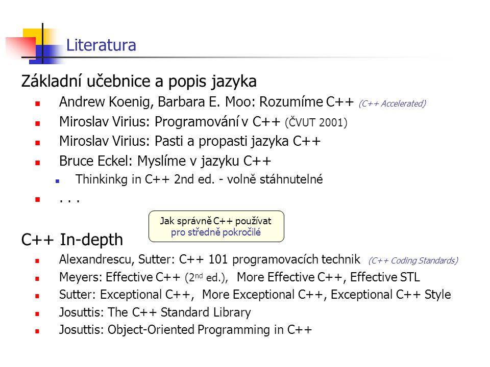 Jak správně C++ používat pro středně pokročilé