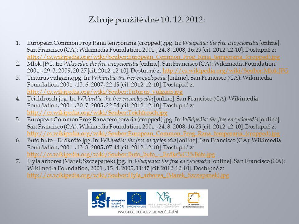 Zdroje použité dne 10. 12. 2012: