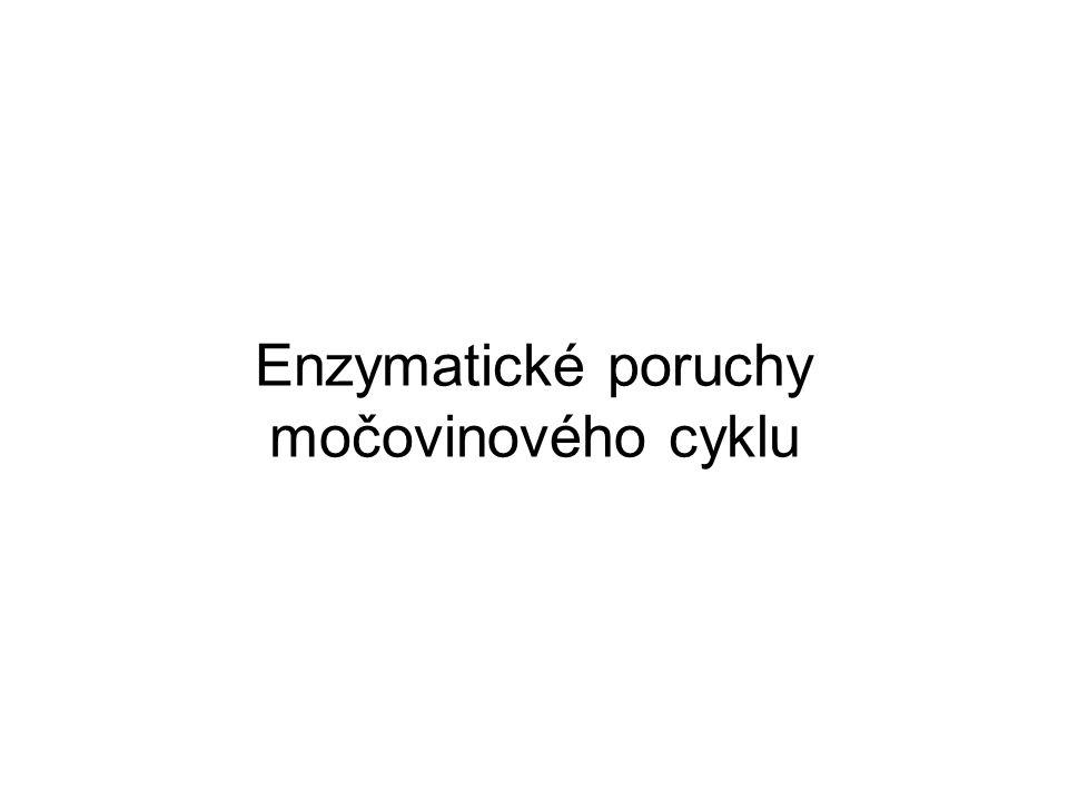 Enzymatické poruchy močovinového cyklu