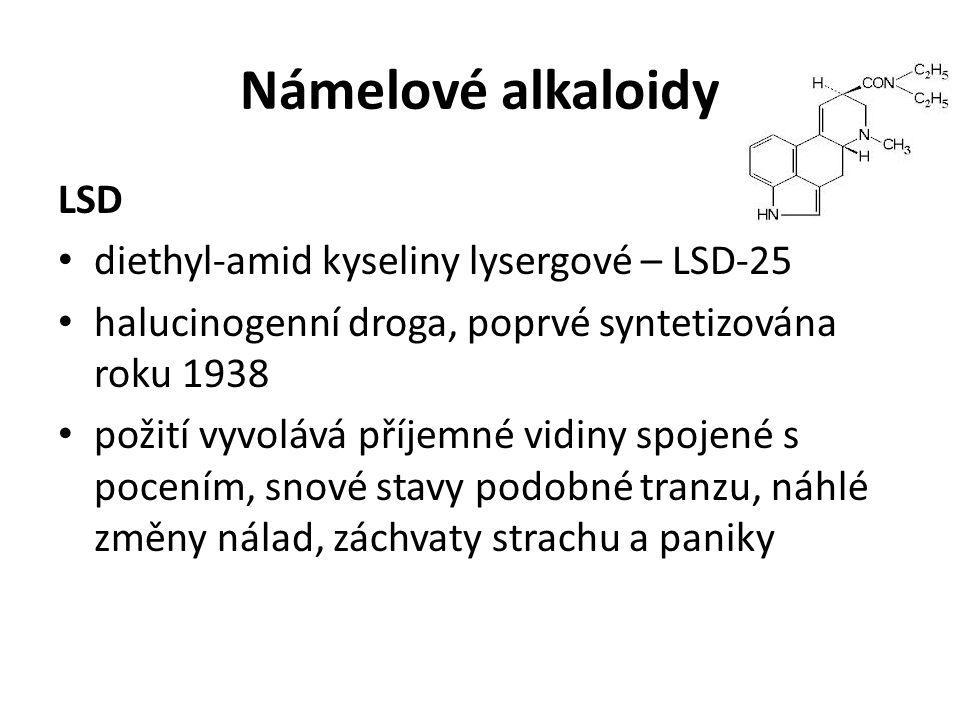 Námelové alkaloidy LSD diethyl-amid kyseliny lysergové – LSD-25
