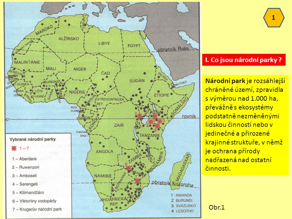 1 I. Co jsou národní parky