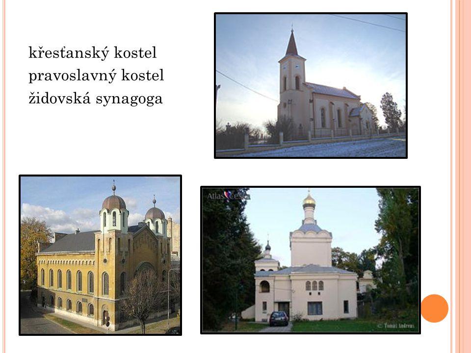 křesťanský kostel pravoslavný kostel židovská synagoga