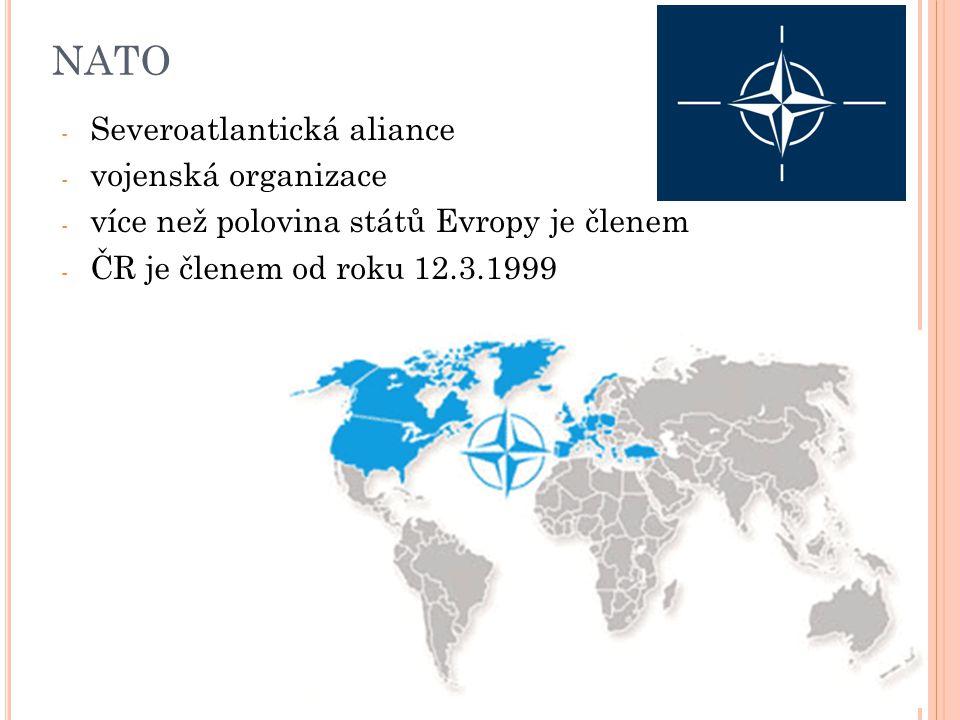 NATO Severoatlantická aliance vojenská organizace