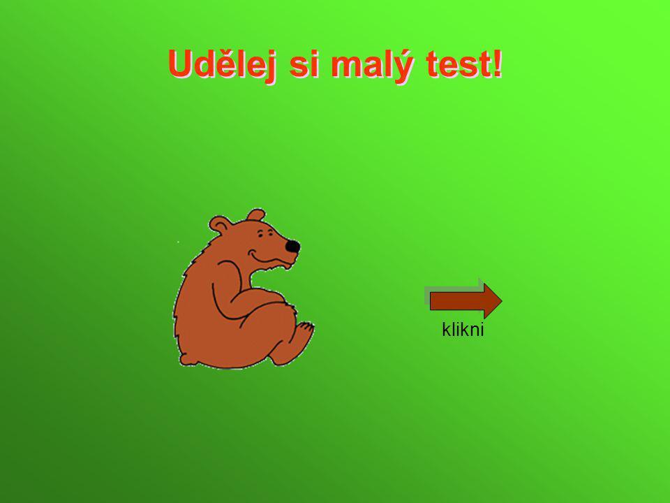 Udělej si malý test! klikni