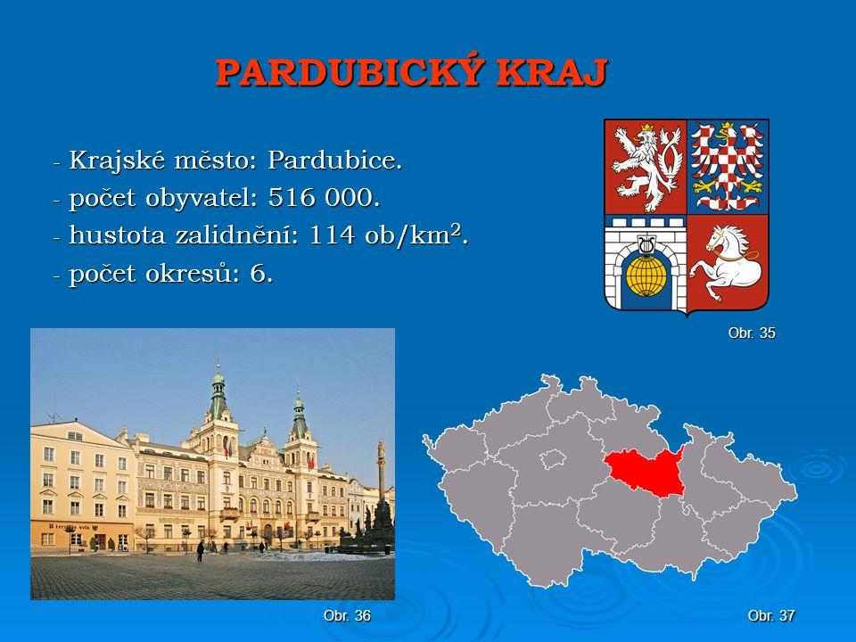 PARDUBICKÝ KRAJ Krajské město: Pardubice. počet obyvatel: 516 000.