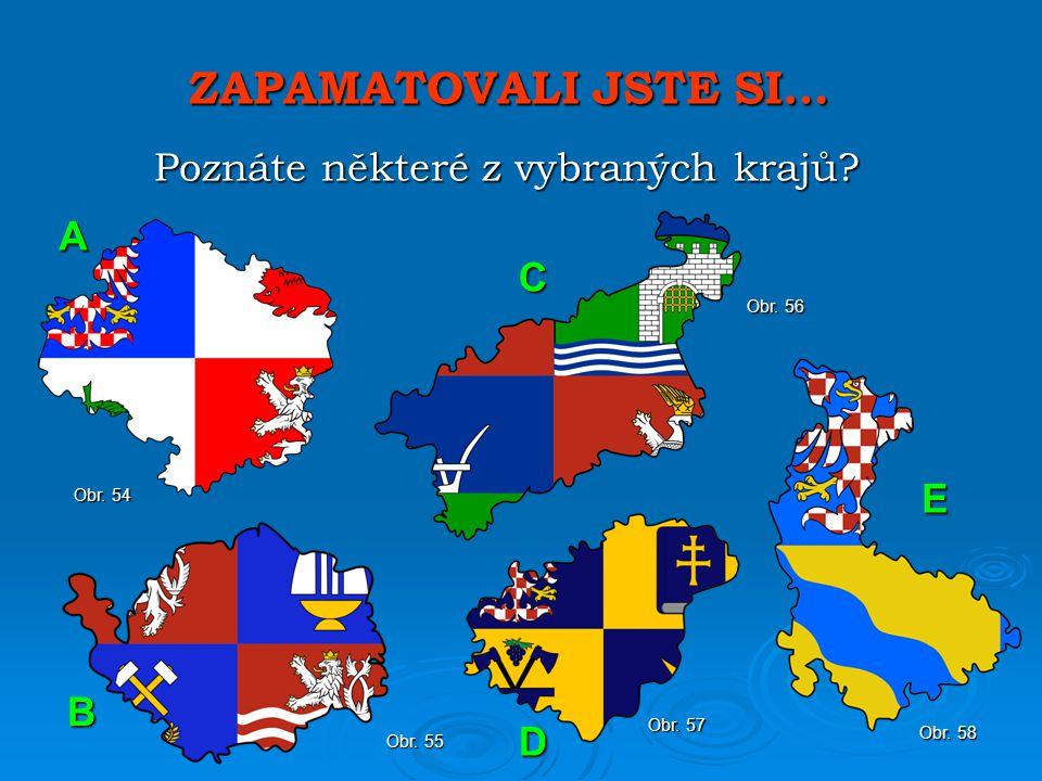 Poznáte některé z vybraných krajů