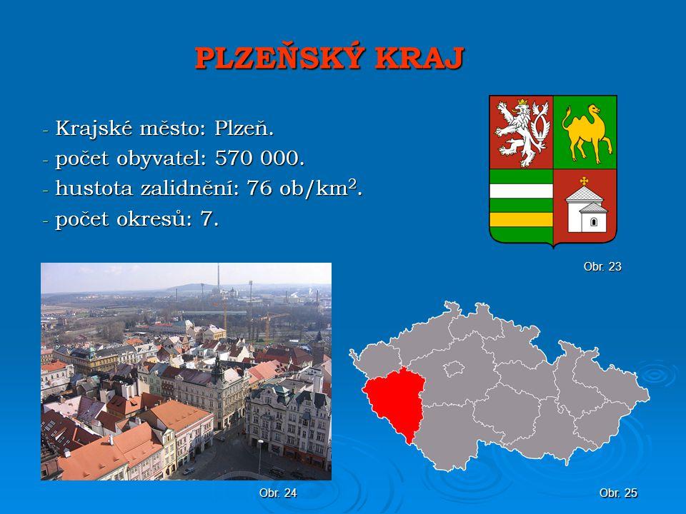 PLZEŇSKÝ KRAJ Krajské město: Plzeň. počet obyvatel: 570 000.