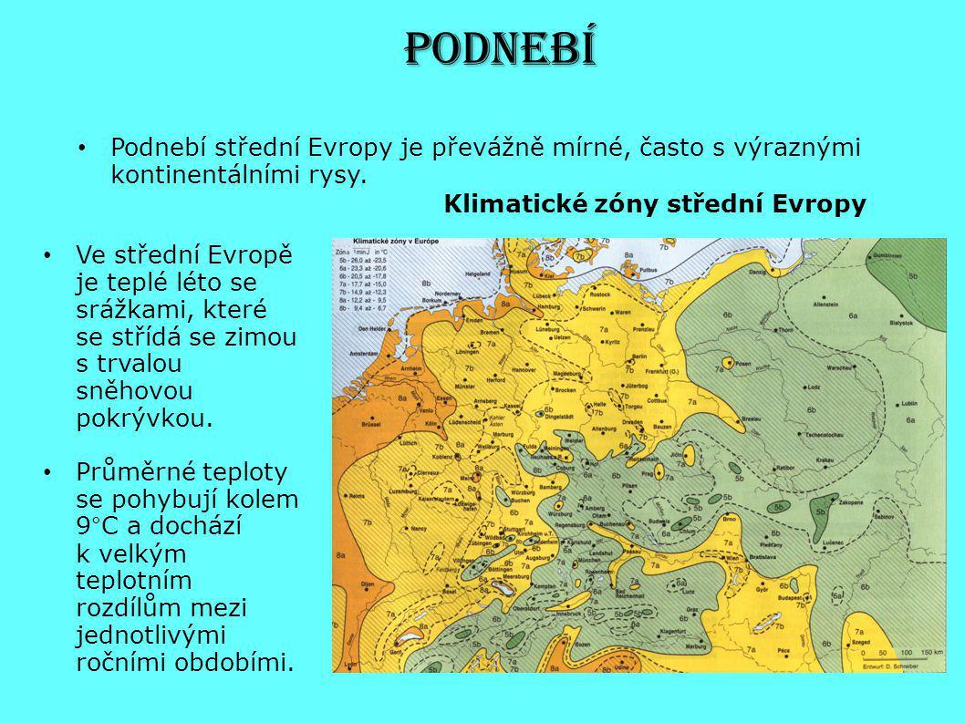 Podnebí Podnebí střední Evropy je převážně mírné, často s výraznými kontinentálními rysy. Klimatické zóny střední Evropy.