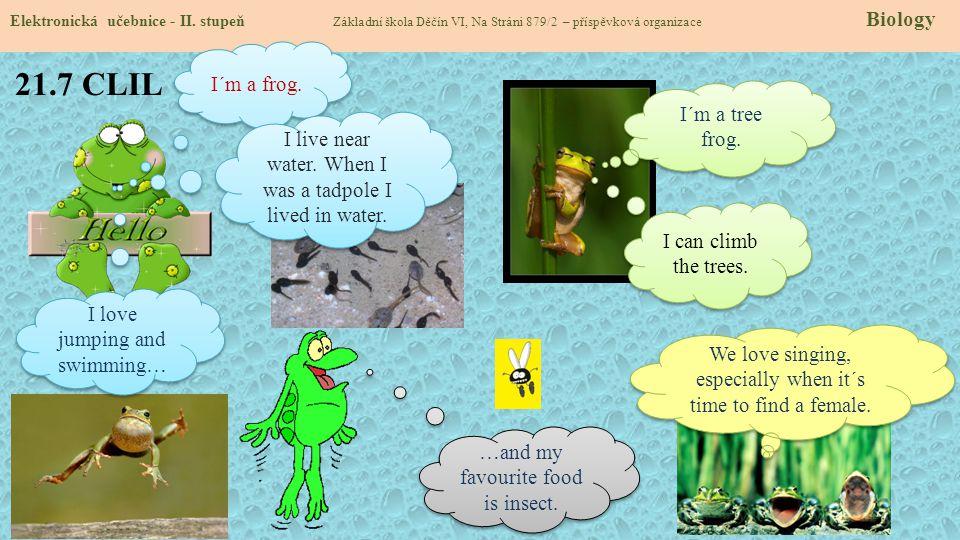 21.7 CLIL I´m a frog. I´m a tree frog.