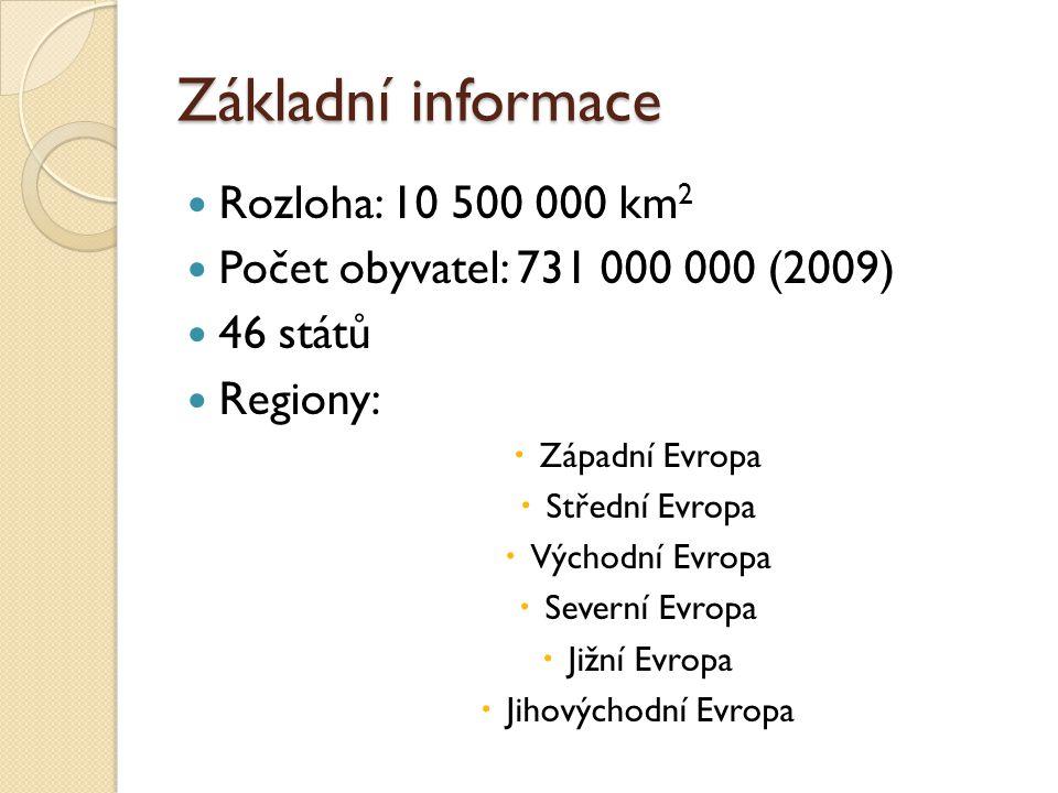 Základní informace Rozloha: 10 500 000 km2