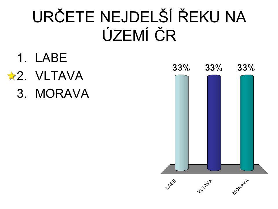 URČETE NEJDELŠÍ ŘEKU NA ÚZEMÍ ČR