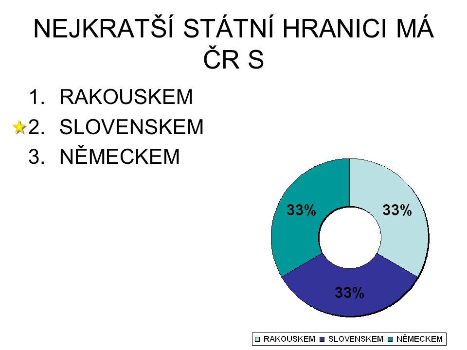 NEJKRATŠÍ STÁTNÍ HRANICI MÁ ČR S