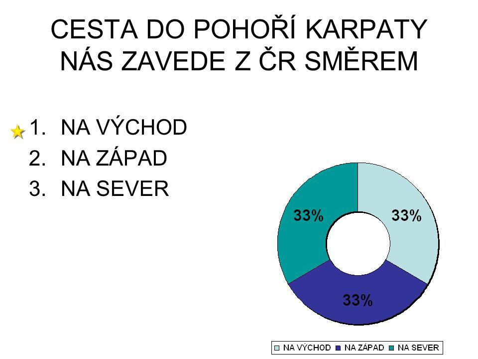 CESTA DO POHOŘÍ KARPATY NÁS ZAVEDE Z ČR SMĚREM