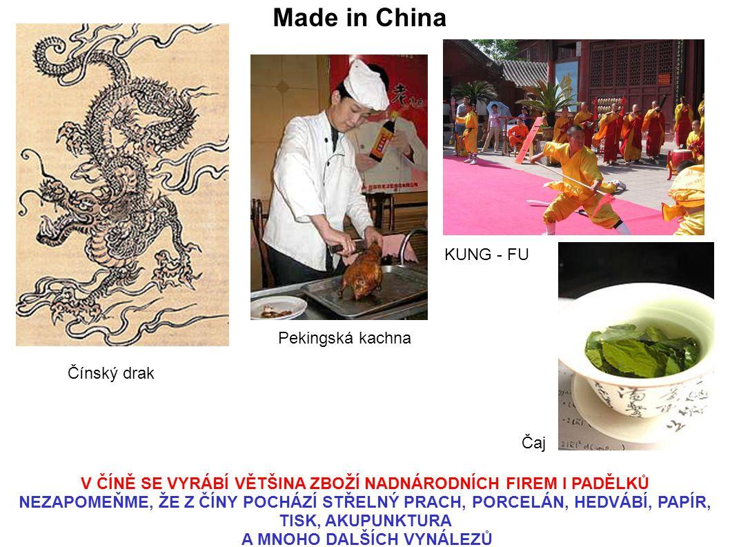 Made in China KUNG - FU Pekingská kachna Čínský drak Čaj