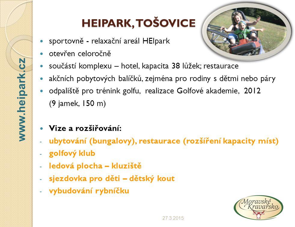HEIPARK, TOŠOVICE www.heipark.cz sportovně - relaxační areál HEIpark