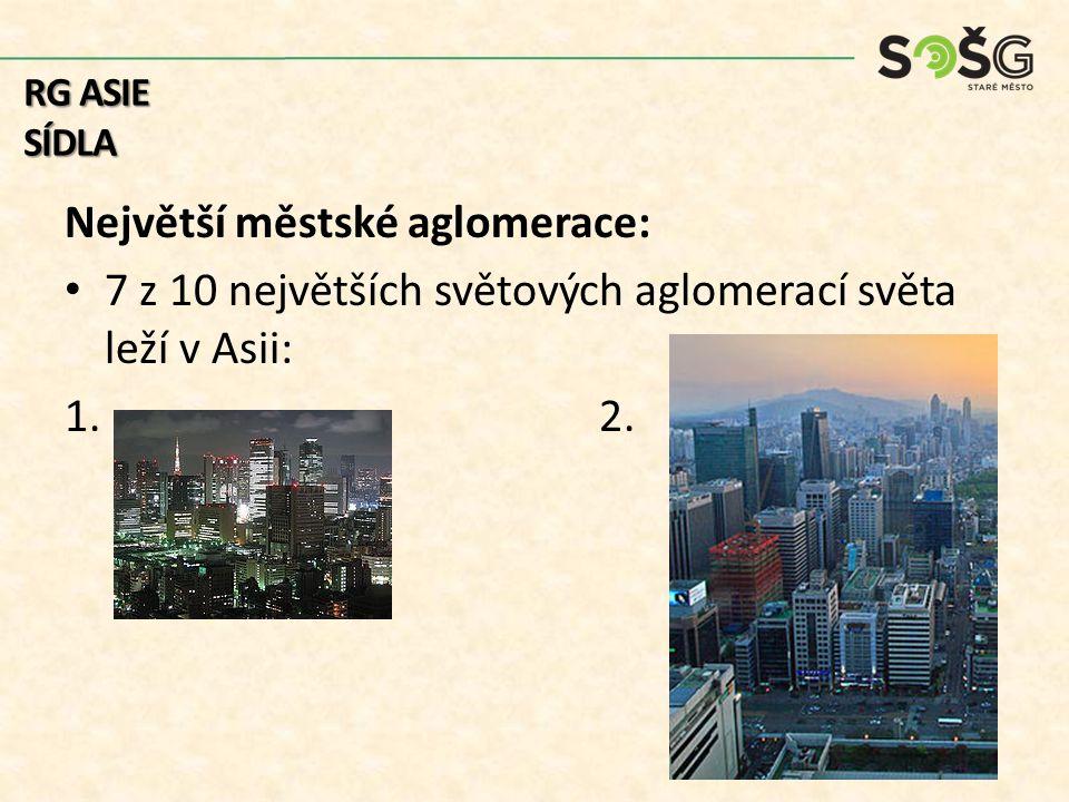 Největší městské aglomerace:
