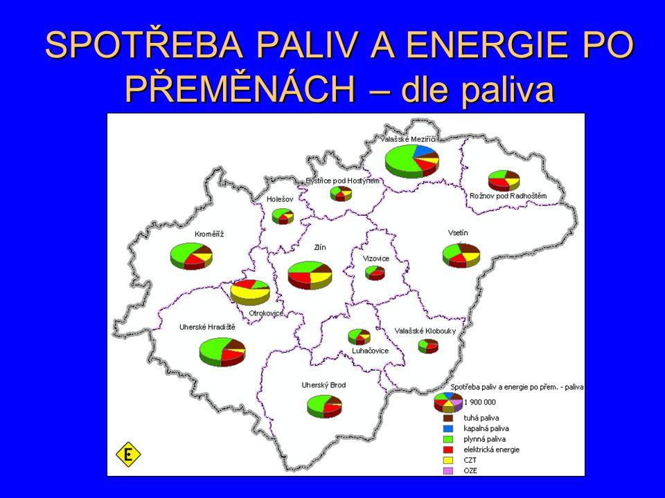 SPOTŘEBA PALIV A ENERGIE PO PŘEMĚNÁCH – dle paliva
