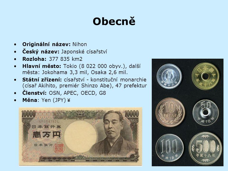 Obecně Originální název: Nihon Český název: Japonské císařství