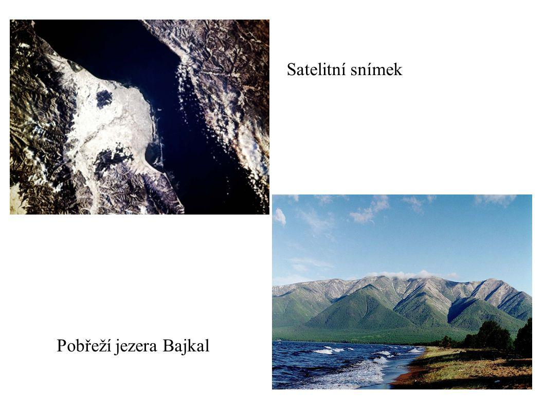 Satelitní snímek Pobřeží jezera Bajkal