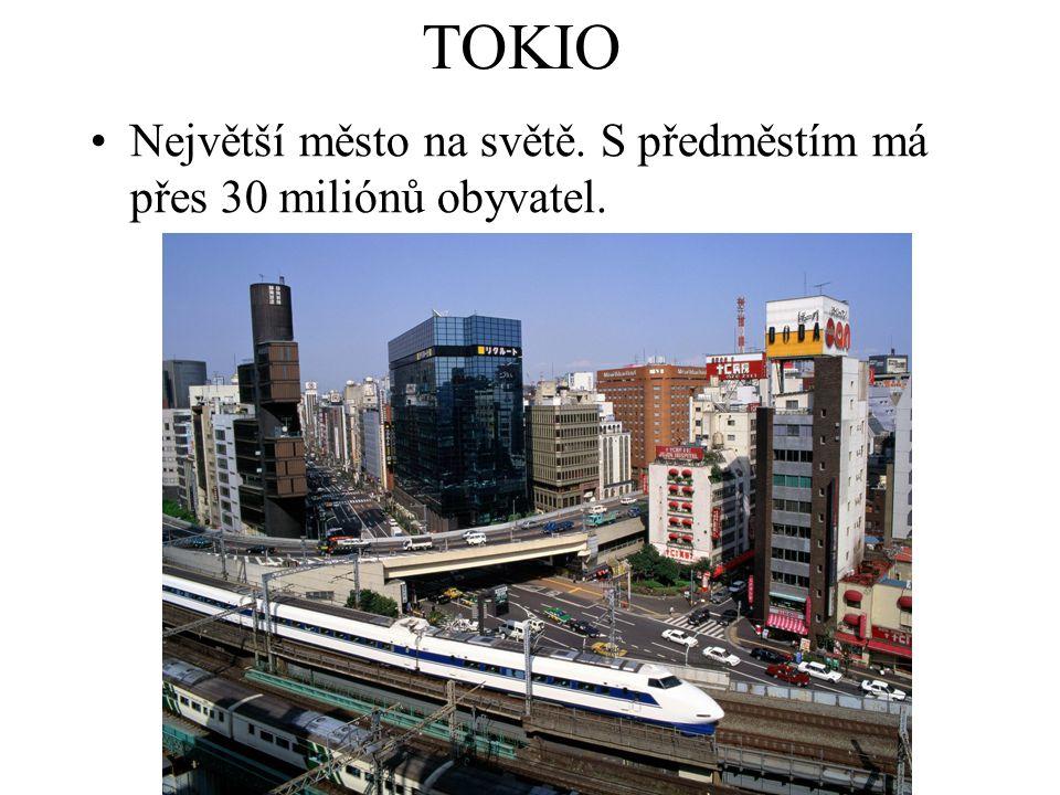 TOKIO Největší město na světě. S předměstím má přes 30 miliónů obyvatel.