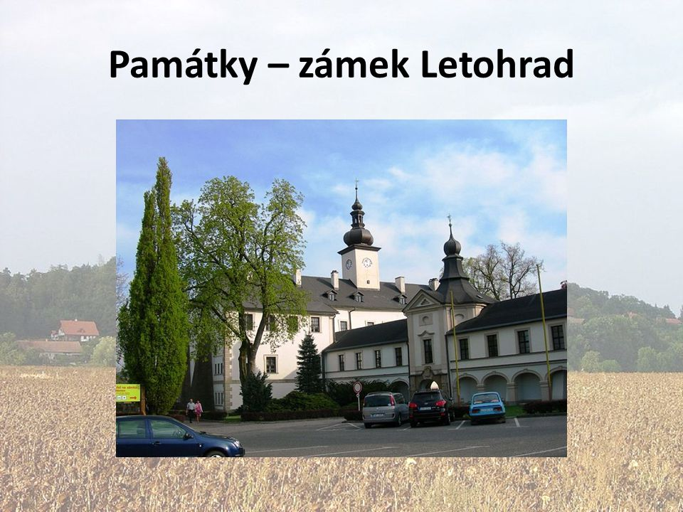 Památky – zámek Letohrad