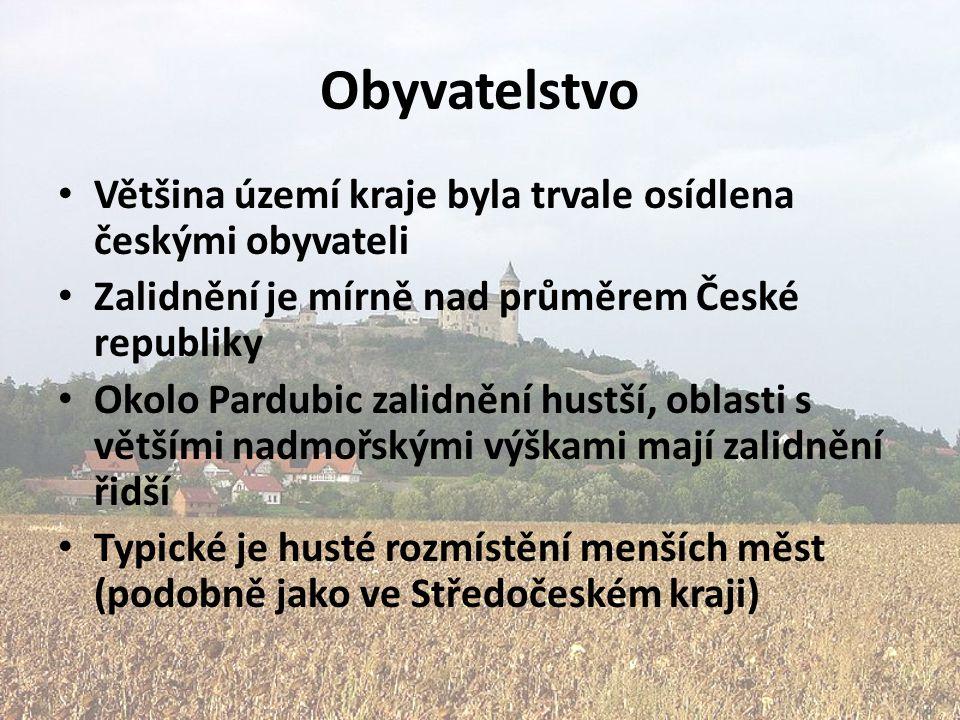 Obyvatelstvo Většina území kraje byla trvale osídlena českými obyvateli. Zalidnění je mírně nad průměrem České republiky.