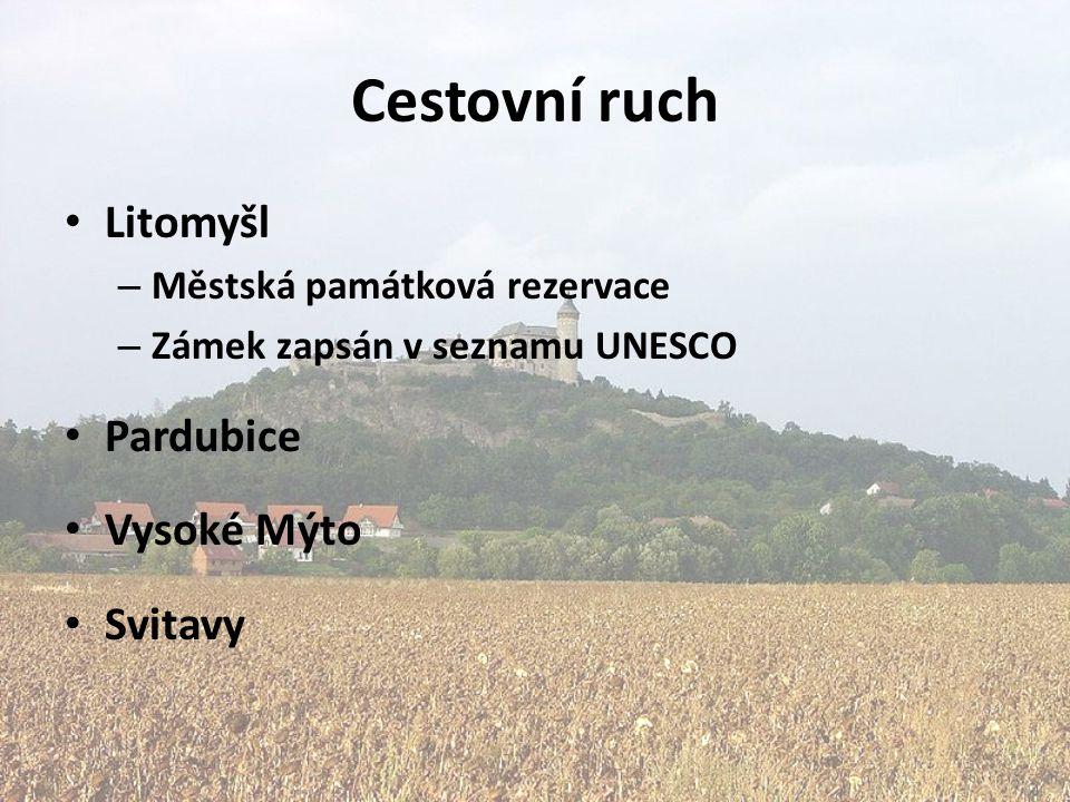 Cestovní ruch Litomyšl Pardubice Vysoké Mýto Svitavy