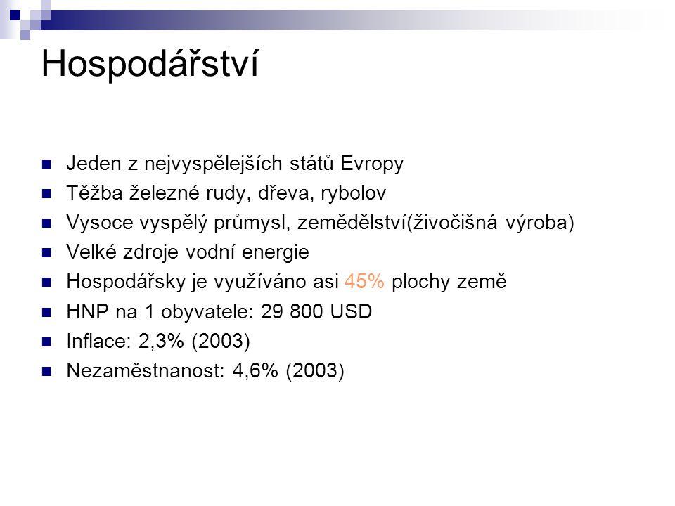 Hospodářství Jeden z nejvyspělejších států Evropy