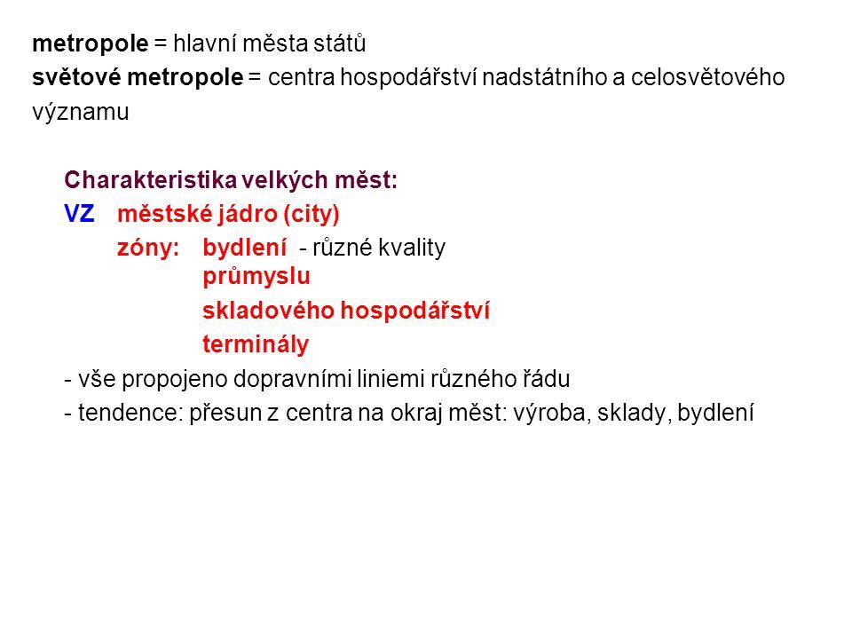 metropole = hlavní města států