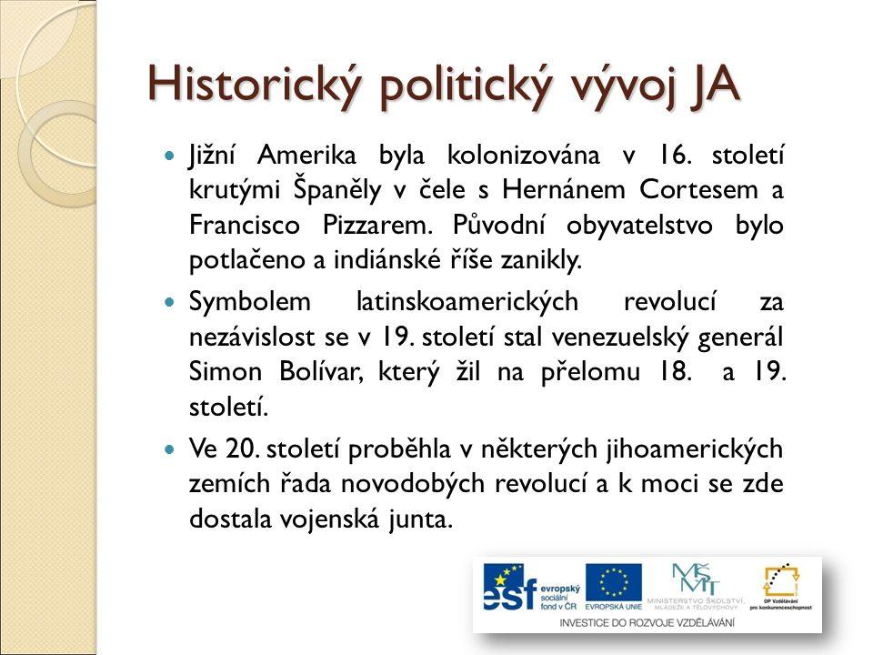 Historický politický vývoj JA