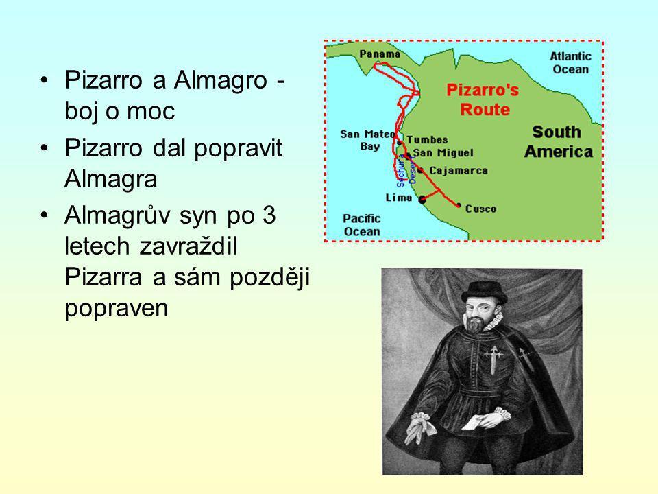 Pizarro a Almagro - boj o moc