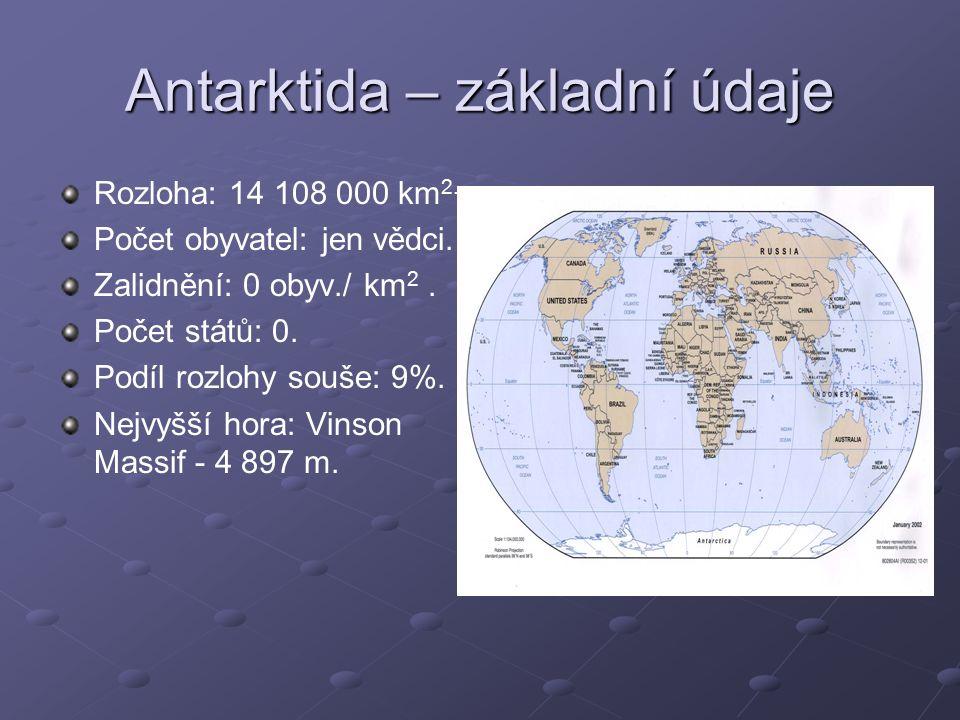 Antarktida – základní údaje