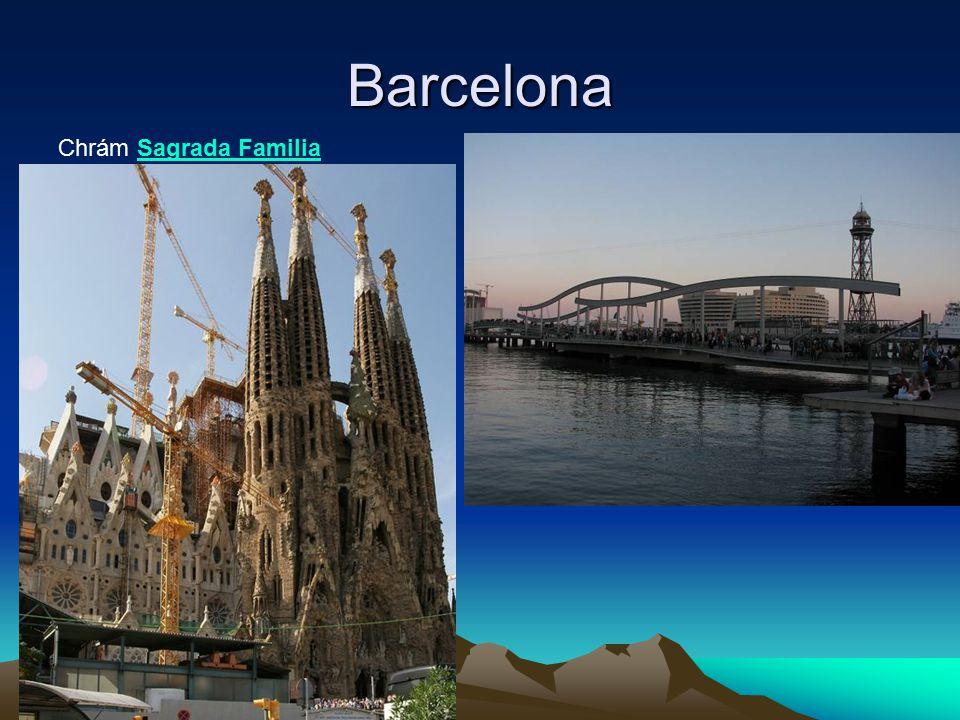 Barcelona Chrám Sagrada Familia