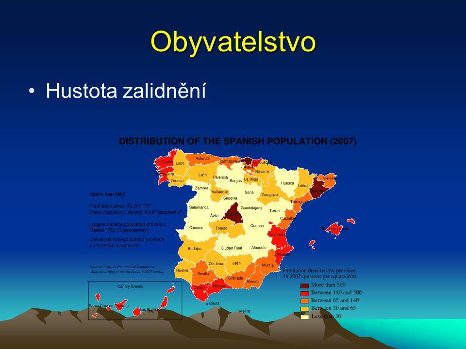 Obyvatelstvo Hustota zalidnění