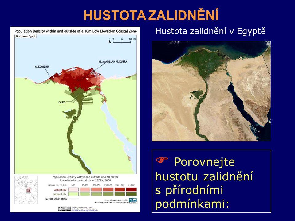 Hustota zalidnění v Egyptě
