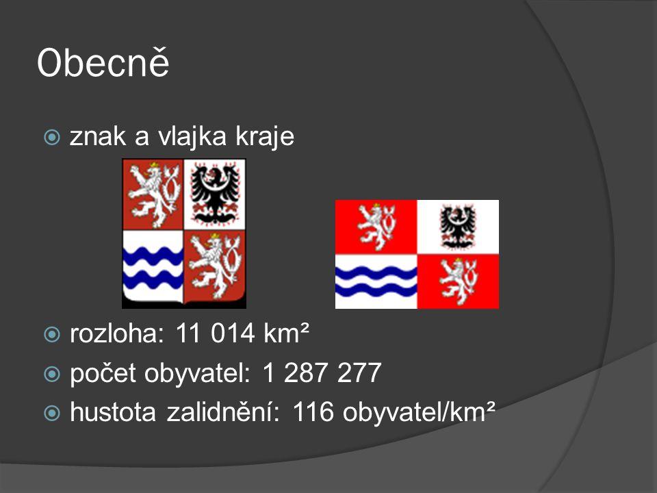 Obecně znak a vlajka kraje rozloha: 11 014 km²