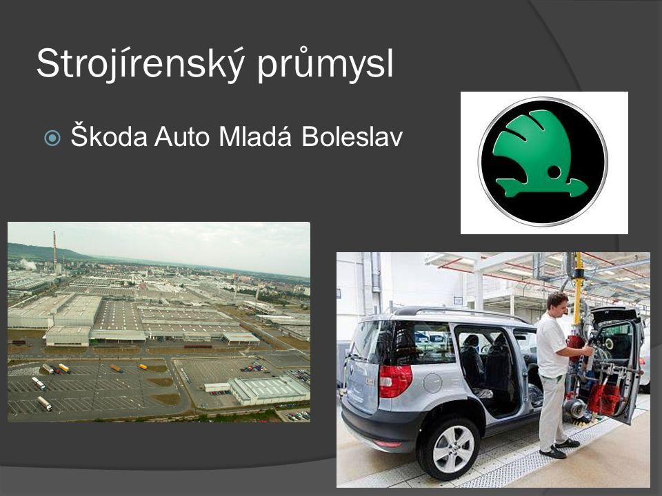 Strojírenský průmysl Škoda Auto Mladá Boleslav