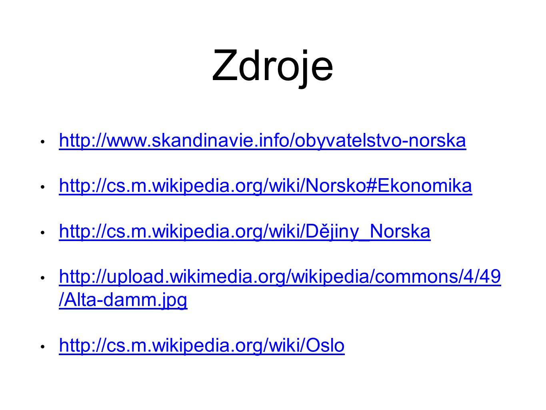 Zdroje http://www.skandinavie.info/obyvatelstvo-norska