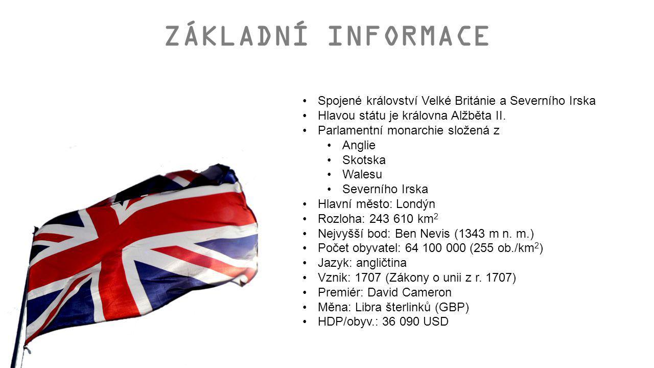 ZÁKLADNÍ INFORMACE Spojené království Velké Británie a Severního Irska
